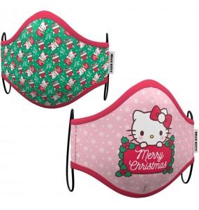 Masque de protection Hello Kitty Noël pour enfant