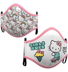 Mascarilla infantil de Hello Kitty