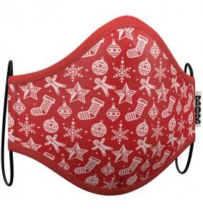 Masque de protection Noël Rouge pour enfant