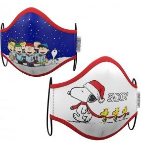Masque de protection Snoopy Noël pour enfant