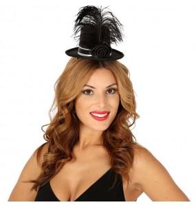 Mini Chapeau Noir avec plumes