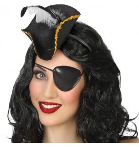 Mini chapeau pirate femme