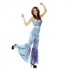 Déguisement Femme Disco Bleu