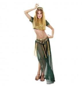 Déguisement Danseuse Arabe Verte