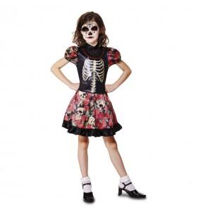 Déguisement Squelette Méxicain Fille