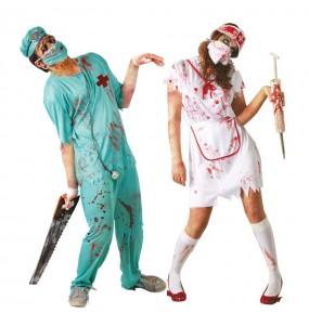 Déguisements Chirurgien et Infirmière Zombies