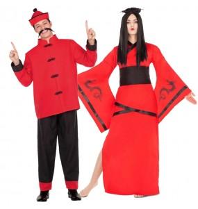 Déguisements Chinois Rouges