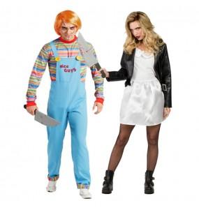 Déguisements Chucky et Tiffany les Poupées de Sang