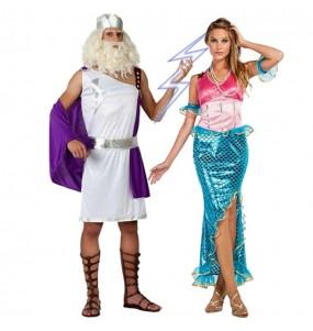Déguisements Dieu Neptune et Sirène