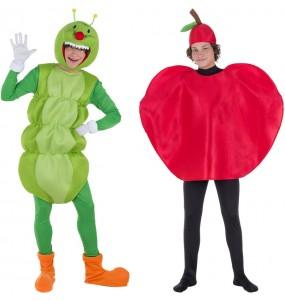 Déguisements Ver de Terre et Pomme