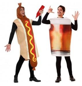 Déguisements Hot Dog et Chope Bière