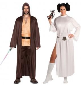 Déguisements Qui-Gon Jinn et Princesse Leia