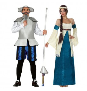 Déguisements Don Quichotte et Dulcinée Bleus