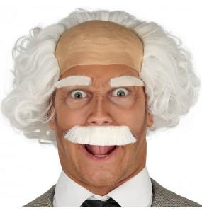 Perruque Albert Einstein avec chauve et moustache