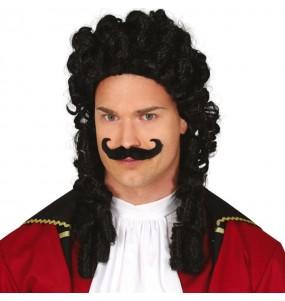 Perruque Capitaine Crochet avec moustache