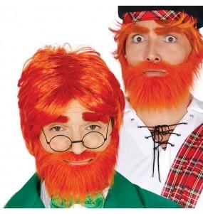 Perruque avec barbe écossais