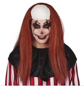 Perruque avec chauve Clown maléfique