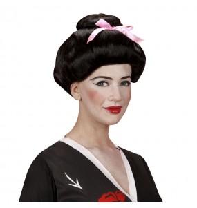 Perruque Geisha japonaise