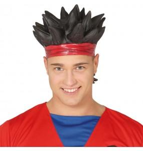 Perruque Son Goku en Latex