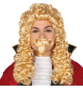 Perruque Marquis Époque avec moustache