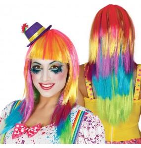 Perruque Longue Lisse Multicolore
