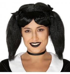 Perruque Mercredi Addams