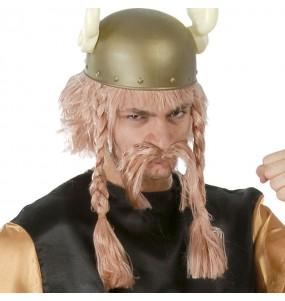 Perruque Astérix avec moustache