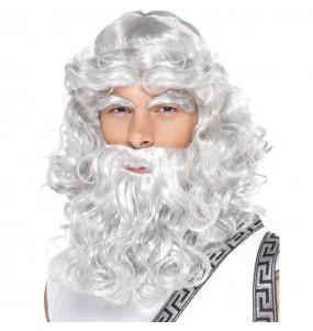 Perruque Neptune avec barbe