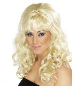 Perruque ondulée blonde