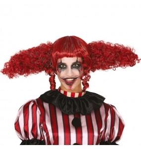 Perruque Clown diabolique femme