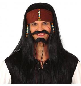 Perruque Pirate Jack Sparrow