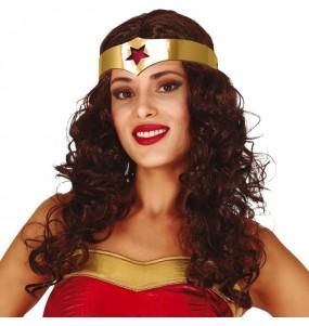 Perruque Wonder Woman avec serre-tête