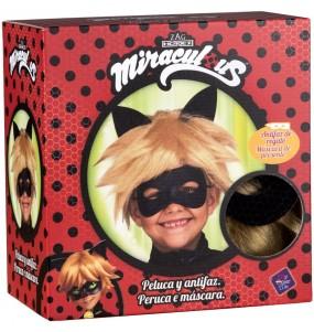 Perruque et masque Cat Noir enfant