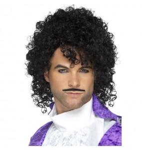 Perruque et moustache chanteur Prince