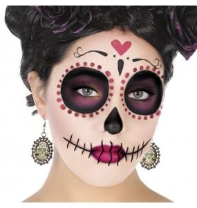 Boucles d'oreilles Catrina mexicaine