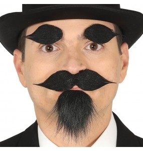 Bouc, moustache et sourcils avec adhésif