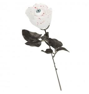 Rose Blanche Halloween avec oeil