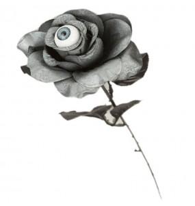 Rose Grise Halloween avec oeil