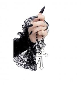 Rosaire Gothique avec croix blanche