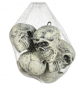 Décoration Crânes plastique lot 6