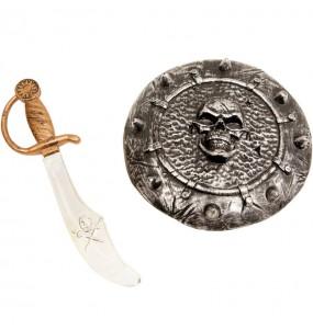 Kit Épée et bouclier Pirate