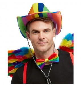 Chapeau Cowboy multicolore LGTB