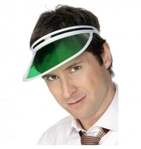 Casquette visière rétro verte