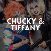 Boutique en ligne déguisements Chucky et Tiffany pour adultes et enfants