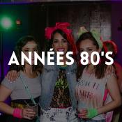 Catalogue de déguisements des années 80 pour garçons, filles, hommes et femmes