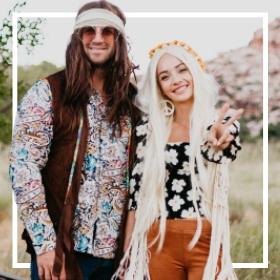 Acheter en ligne les costumes Hippies des années 60 les plus originaux de Carnaval