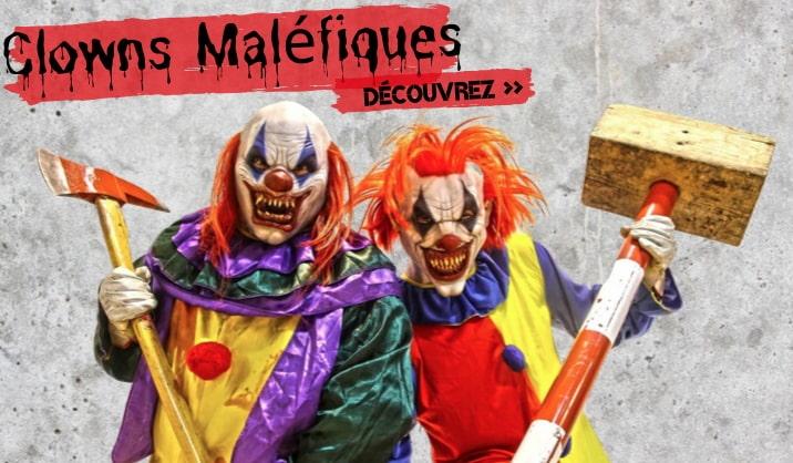 Déguisements Halloween de Clowns maléfiques