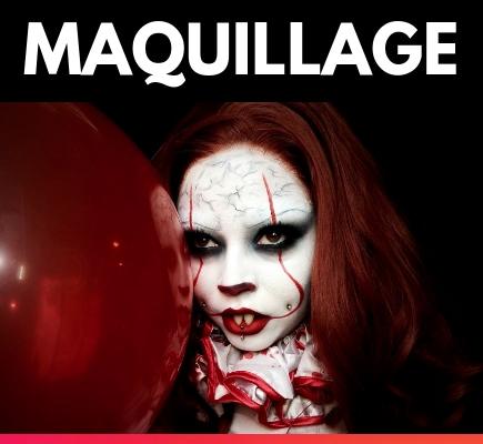 Maquillage d'halloween un résultat professionnel