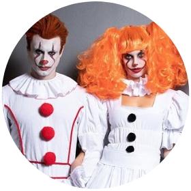 Boutique en ligne costumes Clowns maléfiques