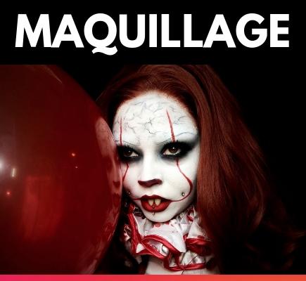 Boutique en ligne maquillage Halloween